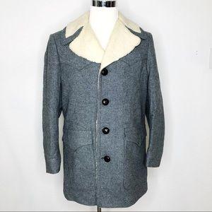 Vintage Pendleton Gray Wool Mens Western Coat SZ L